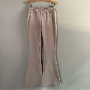 Free People Tan Flare Bellbottom Leggings Pants